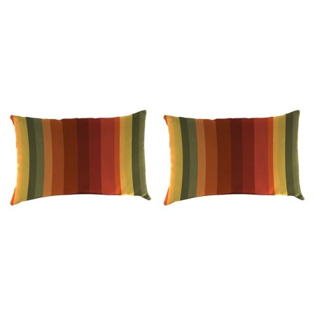 "Set of 2 - Outdoor 18"" x 12"" Toss Pillows"
