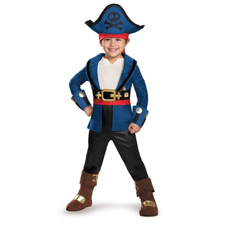 Captain Jake and the Never Land Pirates: Deluxe Captain Jake Child Halloween Costume, Small (4-6)](Izzy Jake Neverland Pirates Halloween Costume)