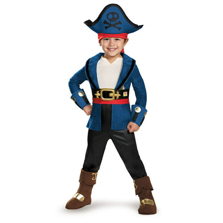 Captain Jake and the Never Land Pirates: Deluxe Captain Jake Child Halloween Costume, Small (4-6) (Finn Jake Costume)