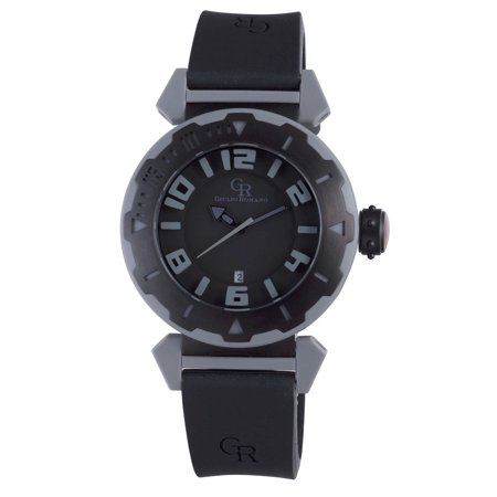 Giulio Romano Men's GR-5000-13-007 Ferrara Black Rubber Date Wristwatch