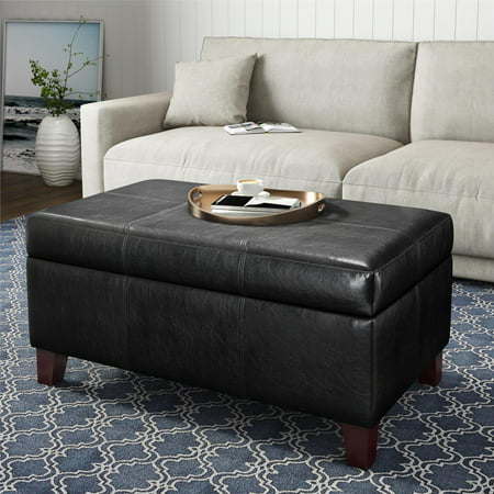 Dorel Living Rectangular Storage Ottoman, Multiple Colors Living Room Accent Ottoman