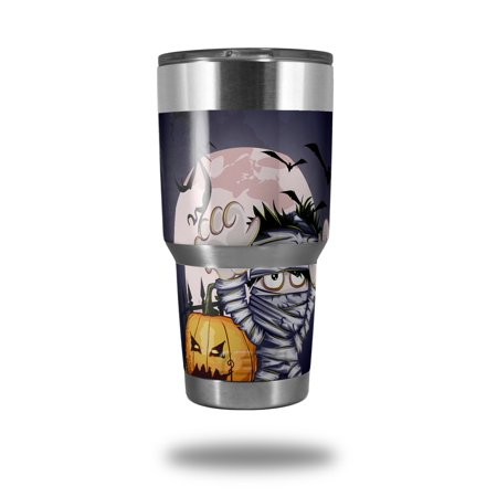 Skin Decal Wrap for Yeti Tumbler Rambler 30 oz Halloween Jack O Lantern Pumpkin Bats and Zombie Mummy (TUMBLER NOT INCLUDED) by WraptorSkinz - Cute Halloween Gif Tumblr