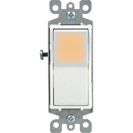 Leviton Decora Illuminated Rocker Single Pole Switch Decora Style Rocker Wall Switch