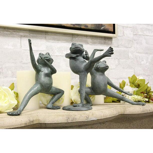 Garden Patio Pool Decorative Sculpture, Metal Frog Garden Decor
