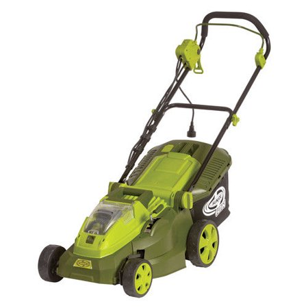 Sun Joe iON16LM-HYB Hybrid Lawn Mower | 16 inch · (Best Lawn Mower For 1 Acre Lot)