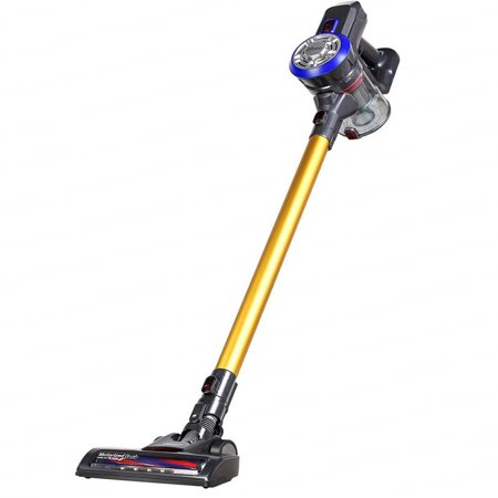 Dibea D18 Cordless Vacuum, 2 in 1 Stick and Handheld Vacuum with 9000pa High Powerful Suction 2200 mAh Rechorgeable Power, 4 Stages Filtration for Carpet Hard Wood Floor Car Pet