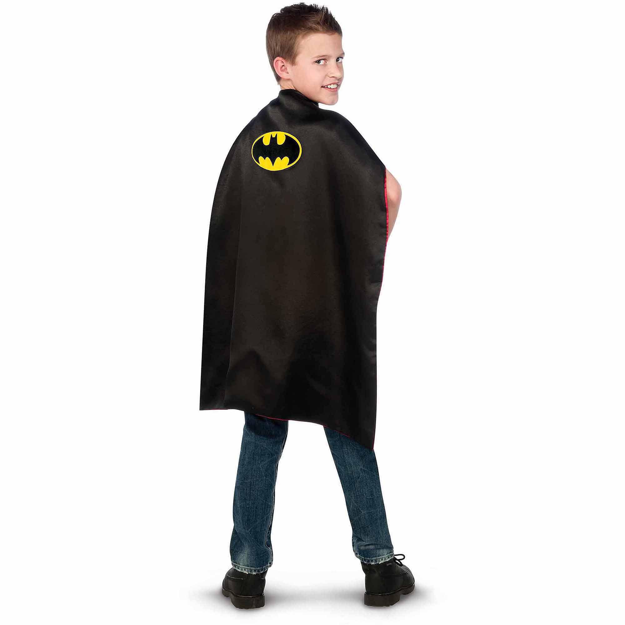 batman to superman reversible cape child halloween costume accessory walmartcom - Halloween Costumes With A Cape