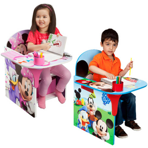 Toddler Desk & Chair with Storage Bin (Your Choice of Character) with Room Accessory