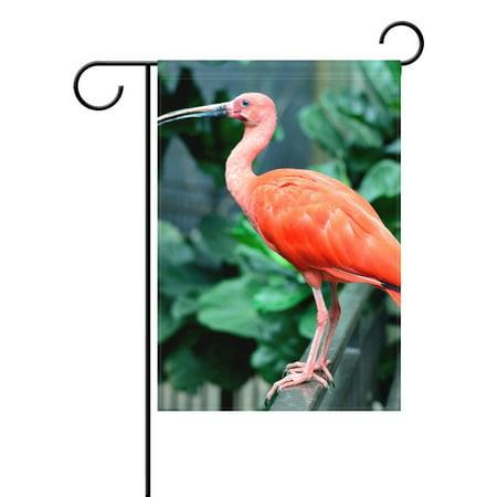 POPCreation Scarlet Ibis Photo Polyester Garden Flag12x18 inches Outdoor Flag Home Party Garden Decor ()
