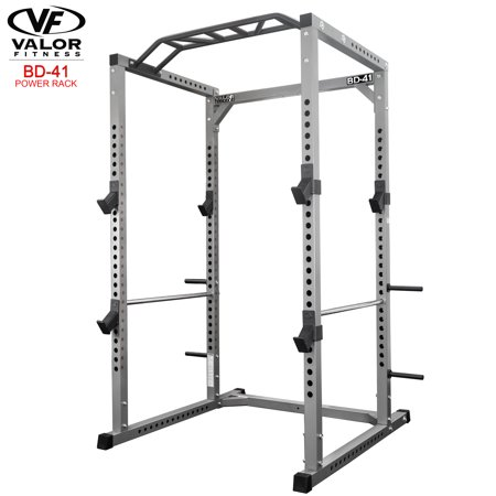Valor Fitness BD-41 Heavy Duty Power Cage with Band Pegs and Multi-Grip (Wide Band Custom Peg)
