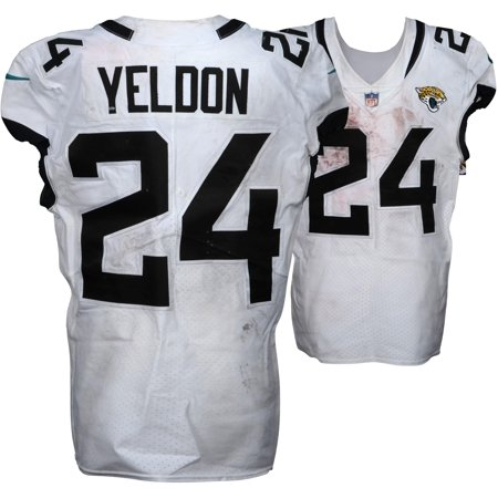 cheap for discount aebee da180 T.J. Yeldon Jacksonville Jaguars Game-Used #24 White Jersey vs. New York  Giants on September 9, 2018 - Size 40 - Fanatics Authentic Certified - ...