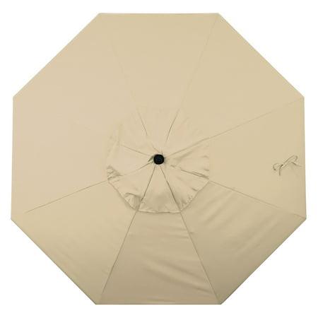 Belham Living 9 ft. Aluminum Market Umbrella With Push Tilt Crank Lift in Sunbrella