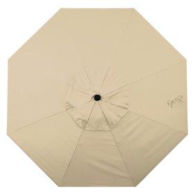 Aluminum Market Umbrella With Push Tilt Crank Lift In Sunbrella