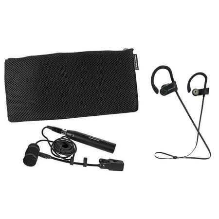 Pyro Audio (Audio Technica PRO 35 Cardioid Condenser Instrument Microphone/Mic PRO35+Earbuds )