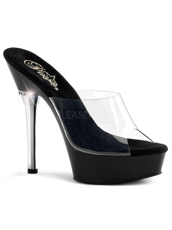 "ALL601/C/B Pleaser Platforms (Exotic Dancing) 5 1/2"" Heel Shoes BLACK Size: 6"