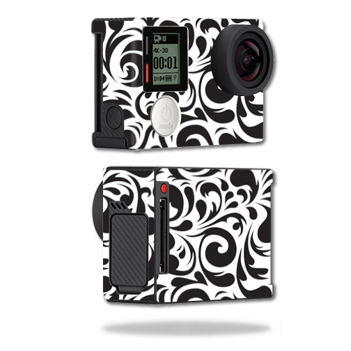 Mightyskins Protective Vinyl Skin Decal Cover for GoPro Hero4 Black Edition Camera Digital Camcorder wrap sticker skins Swirly Black
