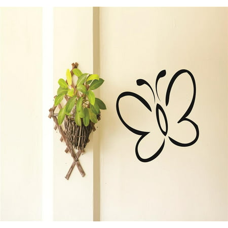 Butterfly Newborn Infant Nursery Bedroom Decor Peel & Stick Sticker Vinyl Wall Decal 12x12 Inches (Butterfly Nursery Decor)