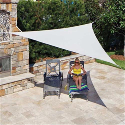 Gale Pacific 449315 Ready To Hang Shade Sail Triangle 16 ft.  x 5 inch, Pebble
