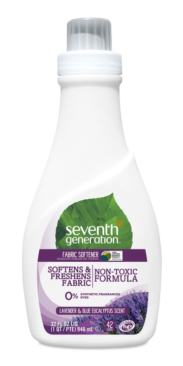 Seventh Generation Lavender & Blue Eucalyptus, 42 loads Liquid Fabric Softener, 32 oz