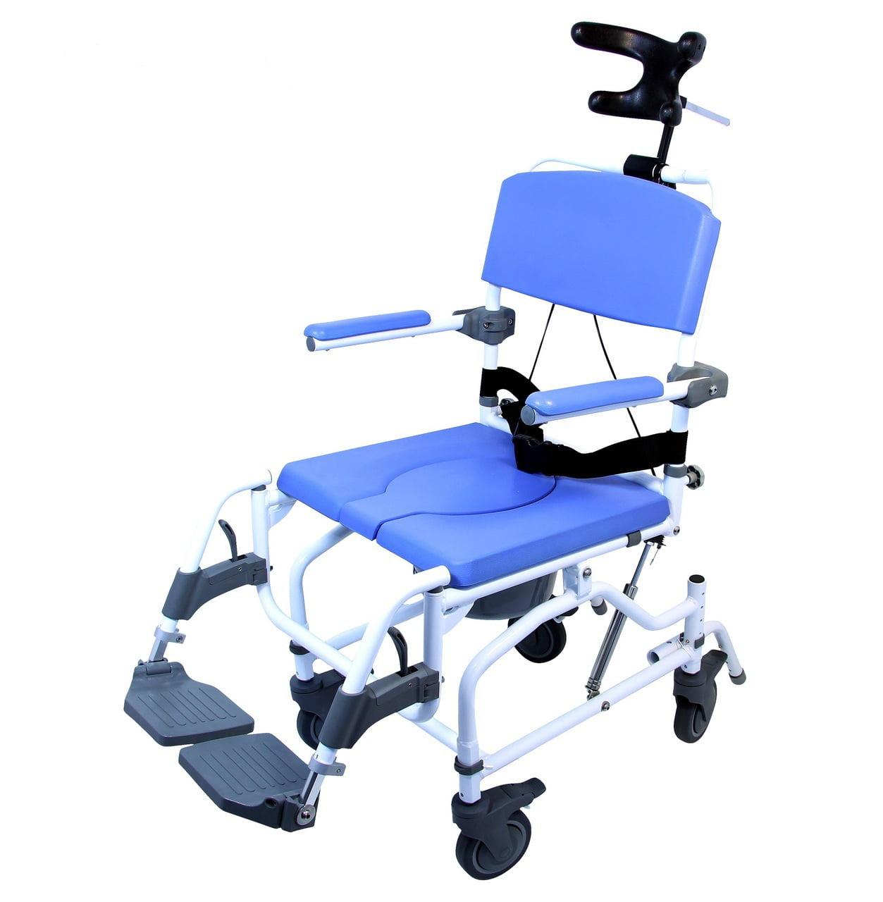 Healthline Extra Wide Tilt Rolling Shower Chair