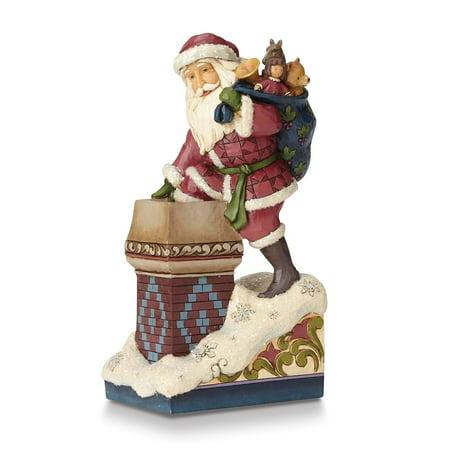 Heartwood Creek Victorian Santa by Chimney Figurine](Santa Chimney)