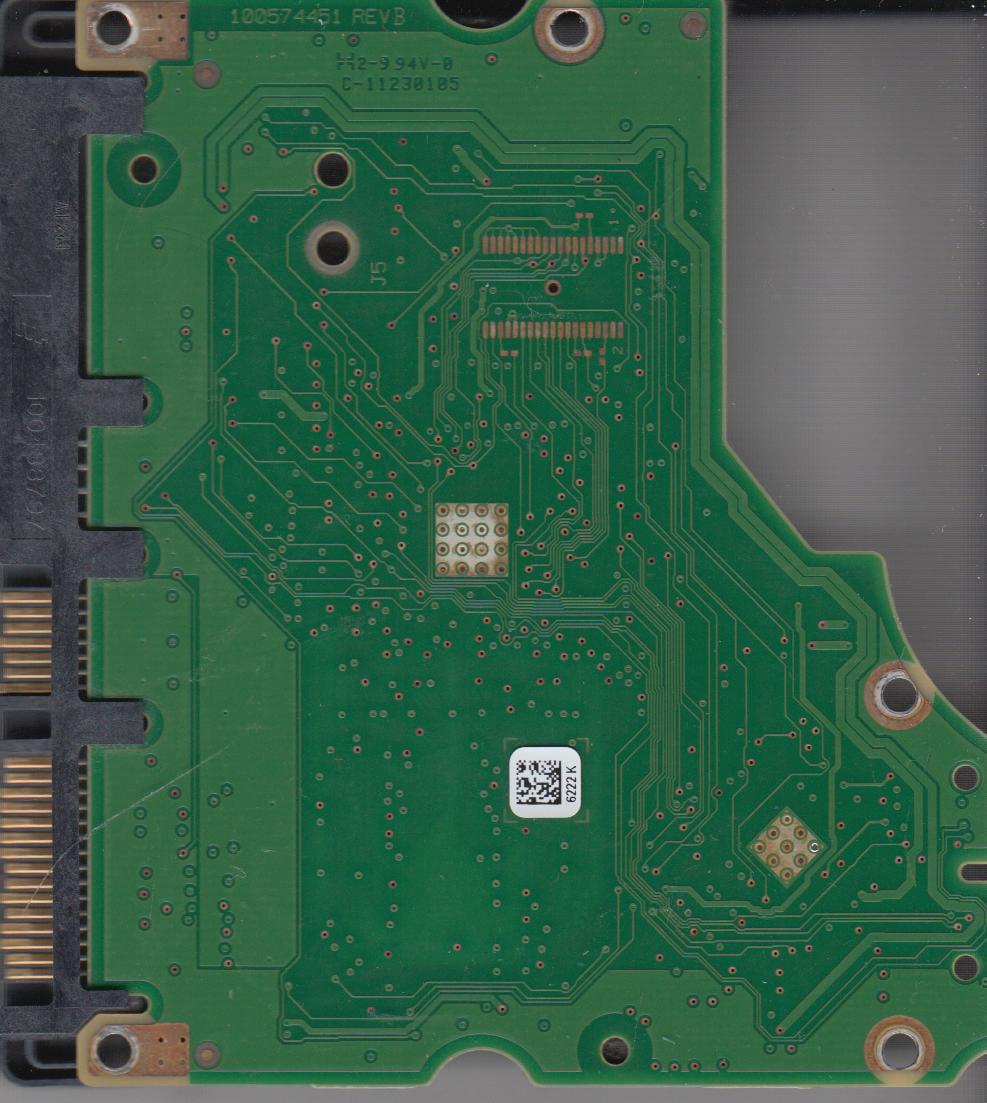 ST31000524AS, 9YP154-304, JC4B, 6222 K, Seagate SATA 3.5 PCB