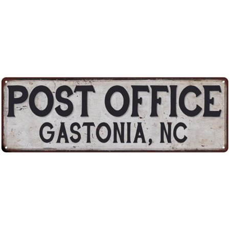 Gastonia, Nc Post Office Personalized Metal Sign Vintage 6x18 106180011450
