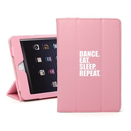 "Leather Magnetic Smart Case Cover for Apple iPad 6 6th 9.7"" (A1893 A1954) Dance Eat Sleep Repeat (Light-Pink)"