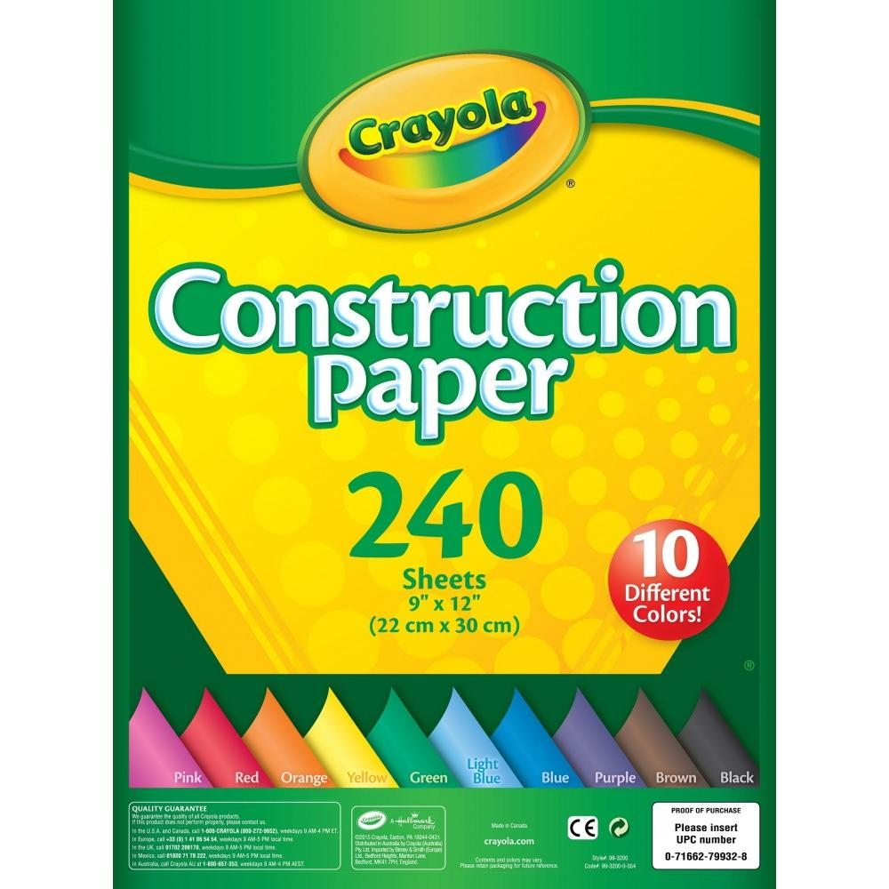 "Crayola Construction Paper Pad, 9"" x 12"", 240 Sheets"