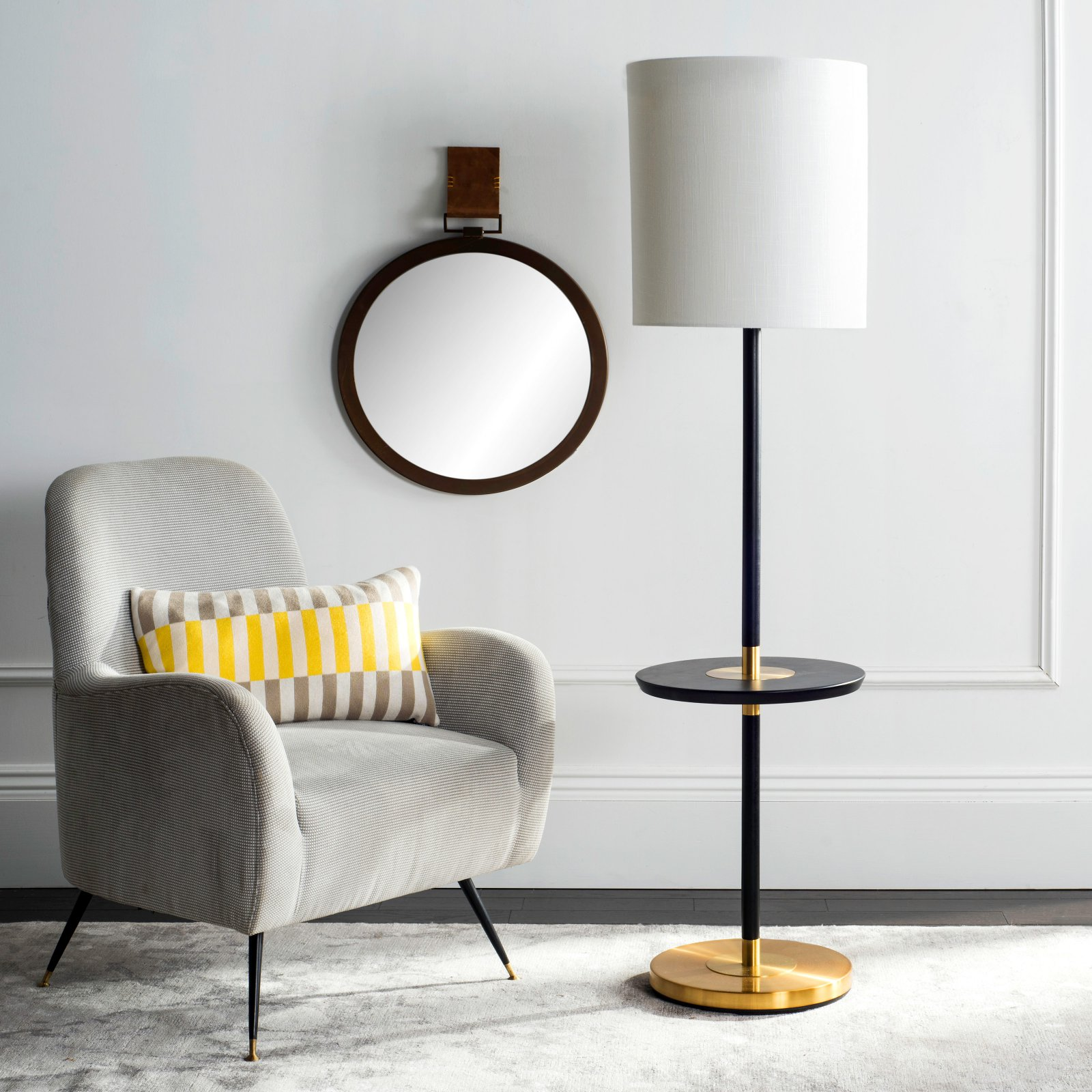 """Safavieh Jenell 65"""" High End Table Floor Lamp with CFL Bulb, Multiple Colors"""