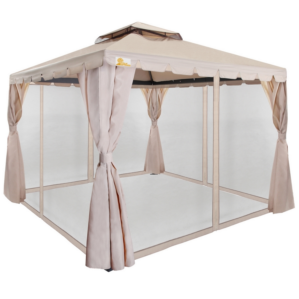 Palm Springs 10ft x 10ft Deluxe Gazebo / Party Tent w/ Mo...