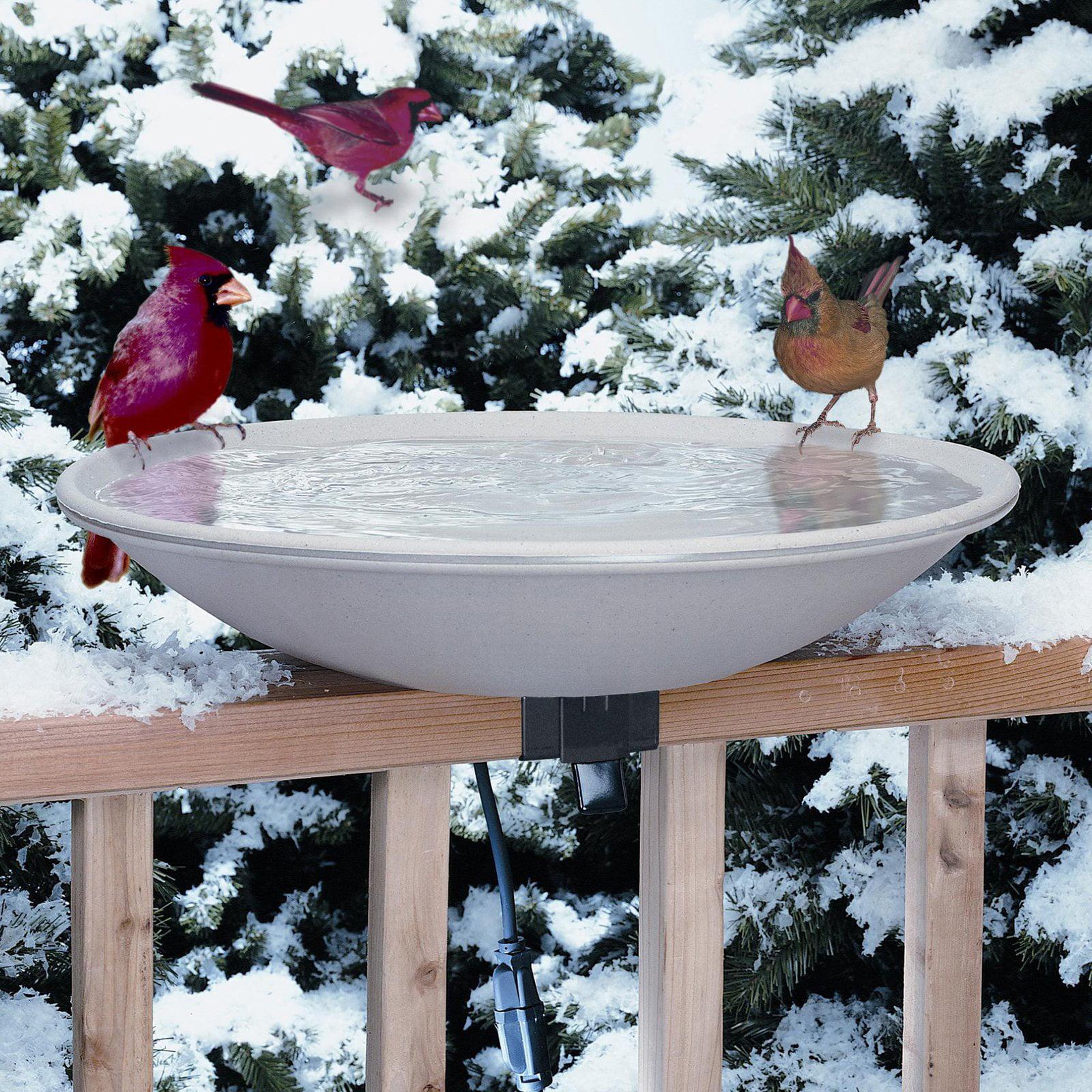 Allied Precision 20 in. EZ Deck Tilt and Clean Heated Birdbath by Gold Crest Distributing LLC
