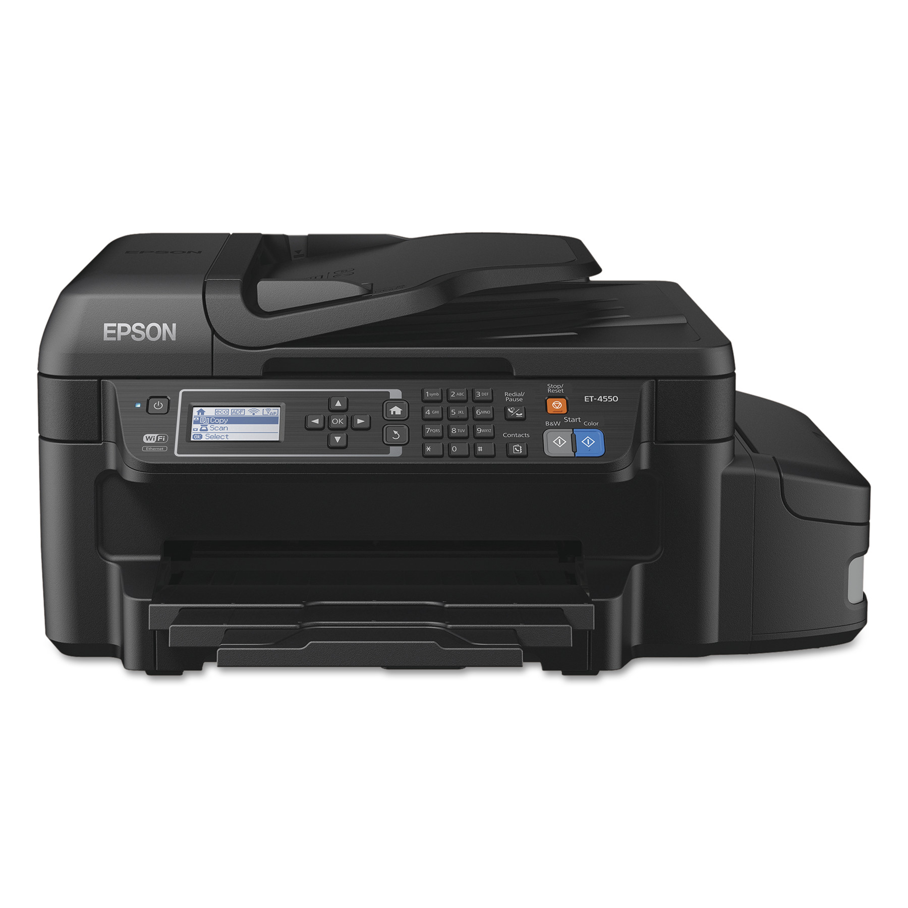 Epson WorkForce ET-4550 EcoTank Wi-Fi All-in-One Inkjet Printer, Copy Fax Print Scan by Epson