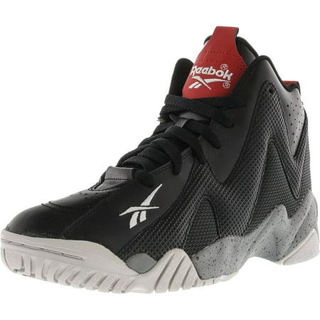 best service 4c409 408a0 Reebok - Reebok Men s Kamikaze Ii Mid Black   Grey Red Steel High-Top  Basketball Shoe - 7M - Walmart.com