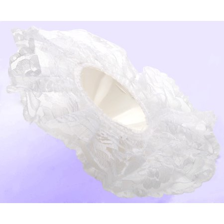 Wedding Bouquet Holder - 11In White Lace Bouquet Holder 12In Dia