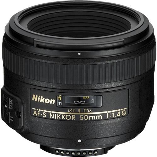 Nikon 50mm f/1.4G AF-S Nikkor Lens - Factory Refurbished includes Full 1 Year Warranty