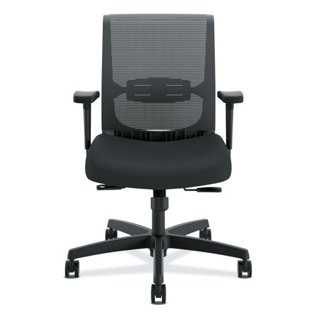 Hon Adjustable Arm Kit (HON Convergence Chair, Adjustable Arms, Black Fabric/Black Plastic )