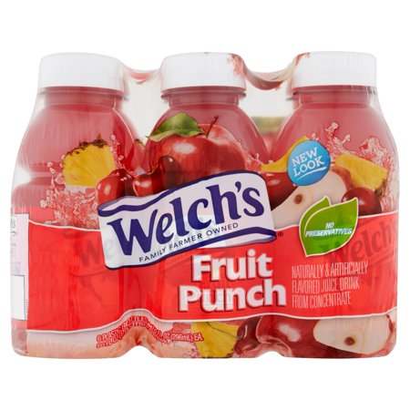 Pink Punch Recipe ((4 Pack) Welch's Juice, Fruit Punch, 10 Fl Oz, 6)