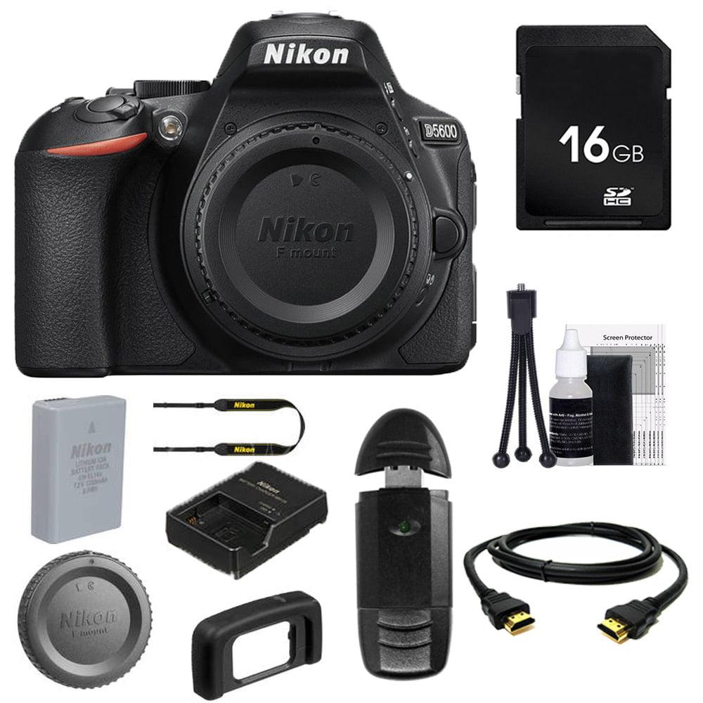 Nikon D5600 Digital SLR Camera (Body Only) + Buzz-Photo Beginners Bundle