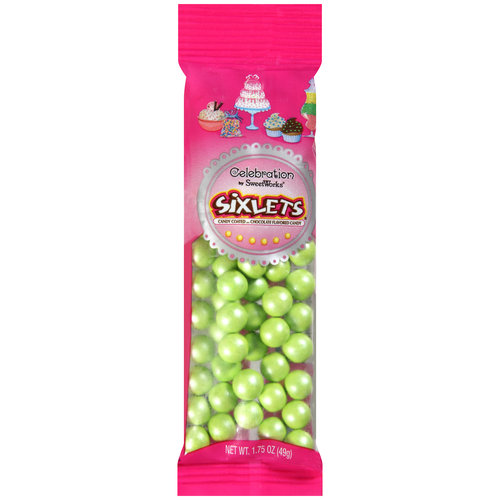 Celebration Shimmer Lime Green Sixlets Candy, 1.75 oz