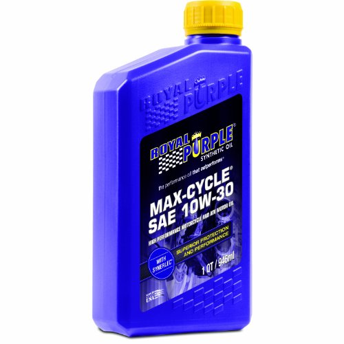 Royal Purple 01314 Max Cycle 10W-30 High Performance Synthetic Motorcycle Oil - 1 qt.