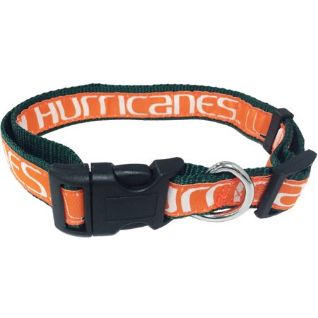 Pets First College Miami Hurricanes Pet Collar, 3 Sizes Available, Sports Fan Dog - Fun Dog Collars