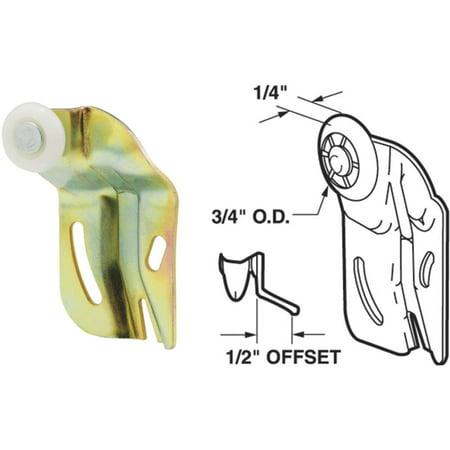 Slide-Co 16224-B Closet Door Roller, Back, 1/2-Inch Offset, 3/4-Inch Nylon Wheel,(Pack of