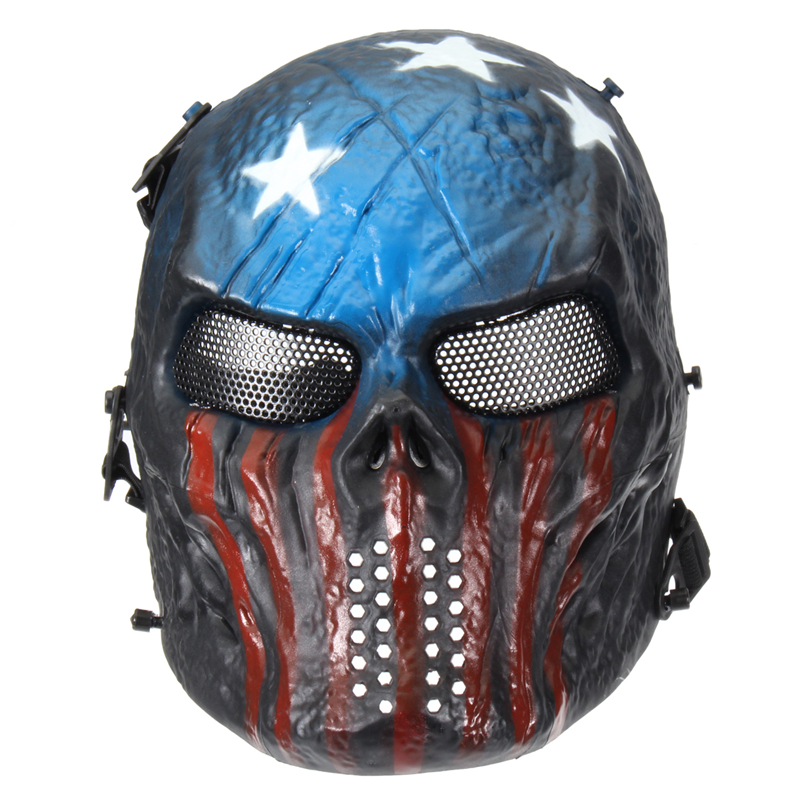 Outdoor Tactical Gear Mask Airsoft Mask Overhead Skull Mask Cs War Game Mask