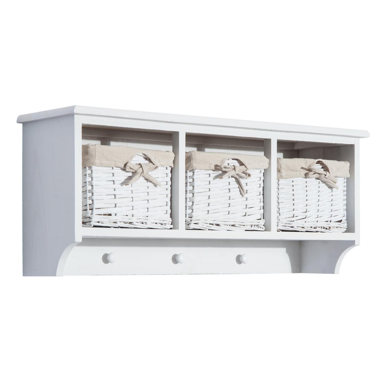 "31"" Hanging Entryway Coat Rack Storage Organizer w/ Baskets"