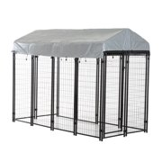 "Pawhut 97"" x 46"" x 58"" - 72"" Outdoor Covered Dog Box Kennel"