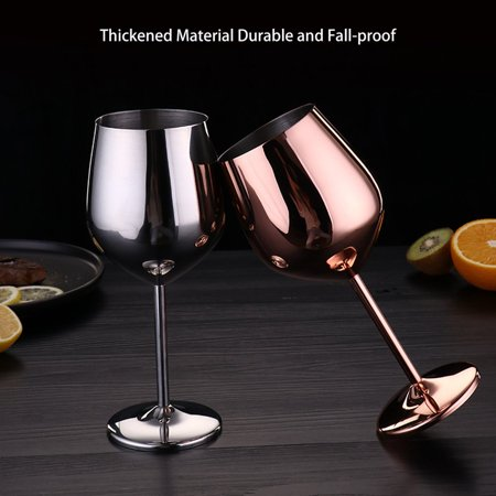 Stainless Steel Red Wine Glass Copper Plated Single Layer Goblet Kitchen Tools - image 6 of 10