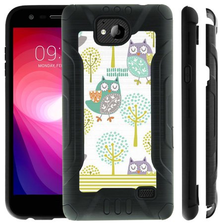 Reinforced Shell - ZTE Tempo N9131, by MINITURTLE - PRO-Tech Innovative Design Dual Layer Technology Reinforced Corners Hard Shell Case - Owl Patterns