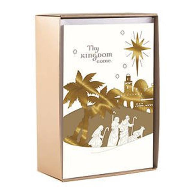 DaySpring  -  Thy Kingdom Come, Thy Will Be Done - 18 Premium Christmas Boxed Cards, KJV