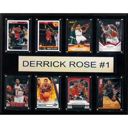 C&I Collectables NBA 12x15 Derrick Rose Chicago Bulls 8-Card